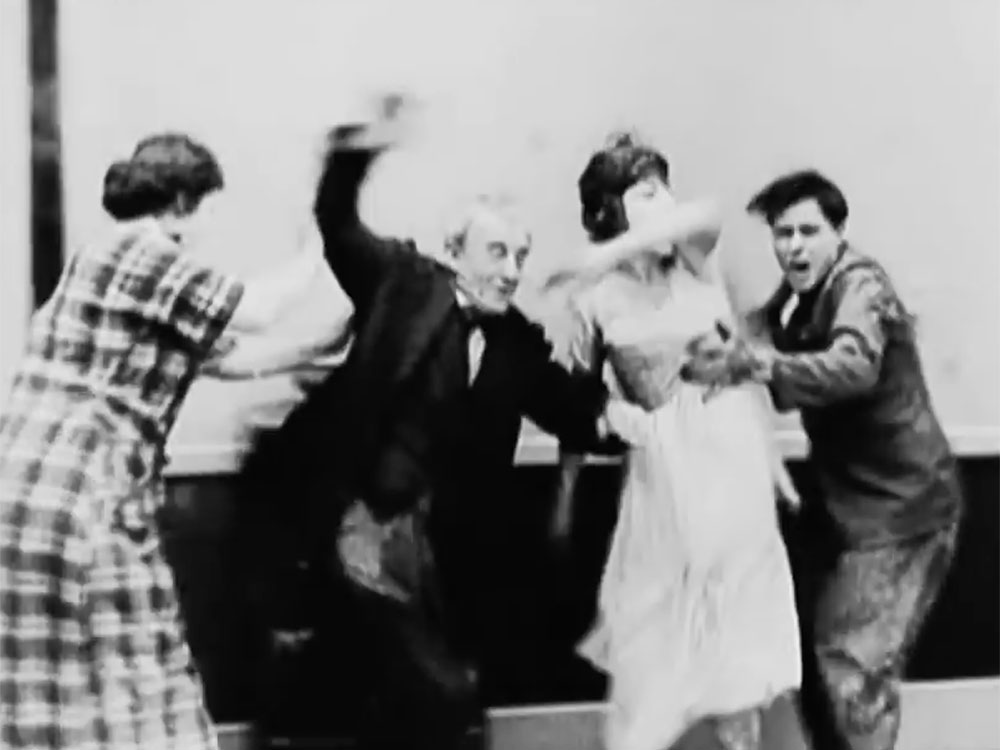 CRR Canada's ORSC training is represented by vintage film clip of people running about in chaos