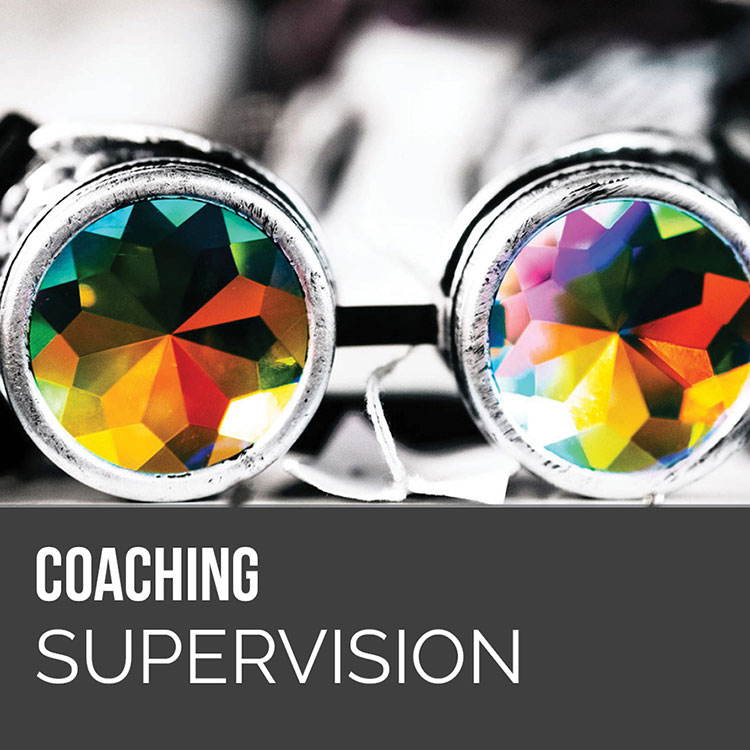 Vintage holographic glasses coaching supervision