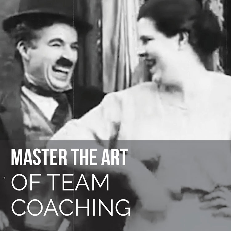 Chaplin laughing as woman elbows him The Kid Master the Art of Team Coaching
