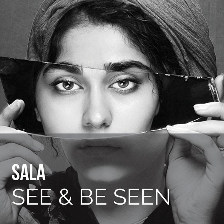Girl holding reflecting mirror Sala Virtual Salon Novalda Amir Geshani Unsplash