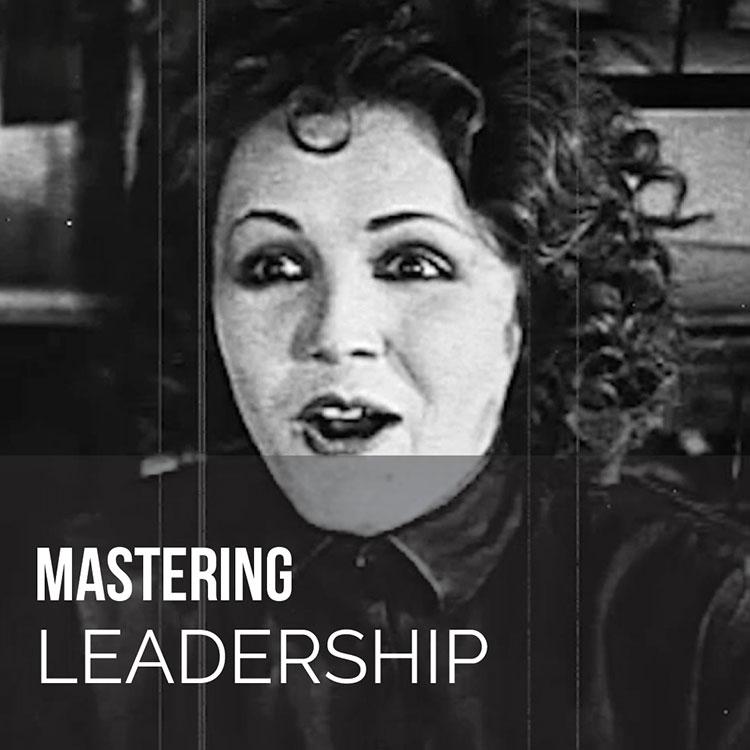 Joyous 20s flapper mastering leadership coaching